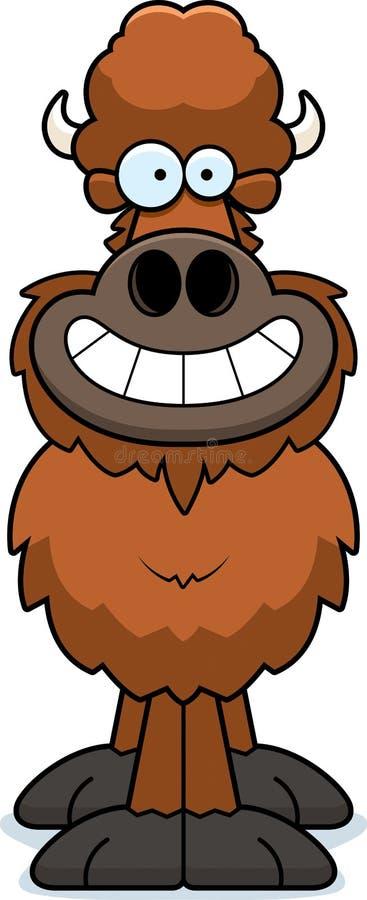 Szczęśliwy kreskówka bizon ilustracji