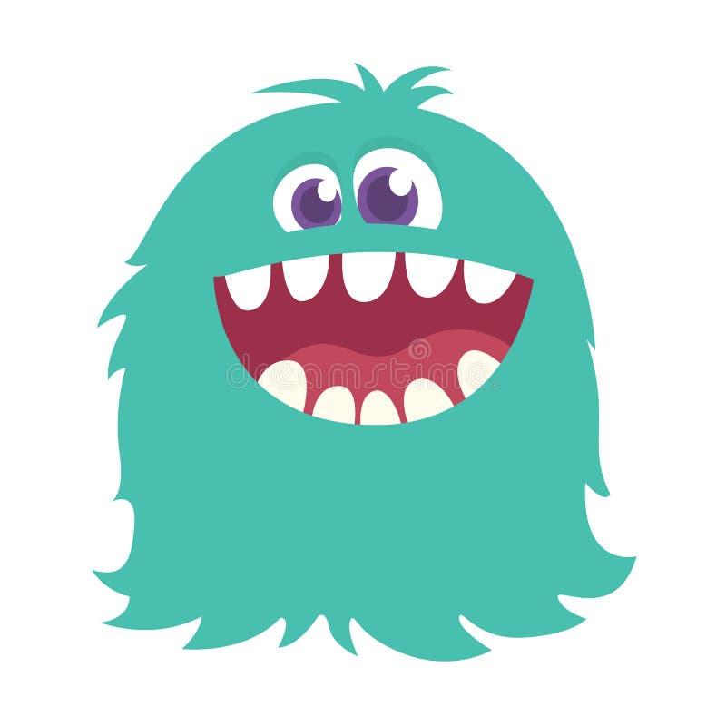 Szczęśliwy kreskówki błękita potwór halloween ilustraci wektor Duży set kreskówka potwory royalty ilustracja
