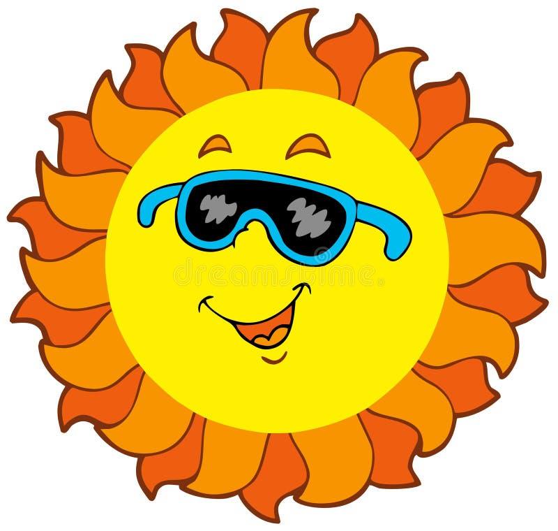 szczęśliwy kreskówki słońce royalty ilustracja