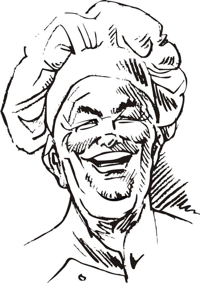 Szczęśliwy kucharz royalty ilustracja