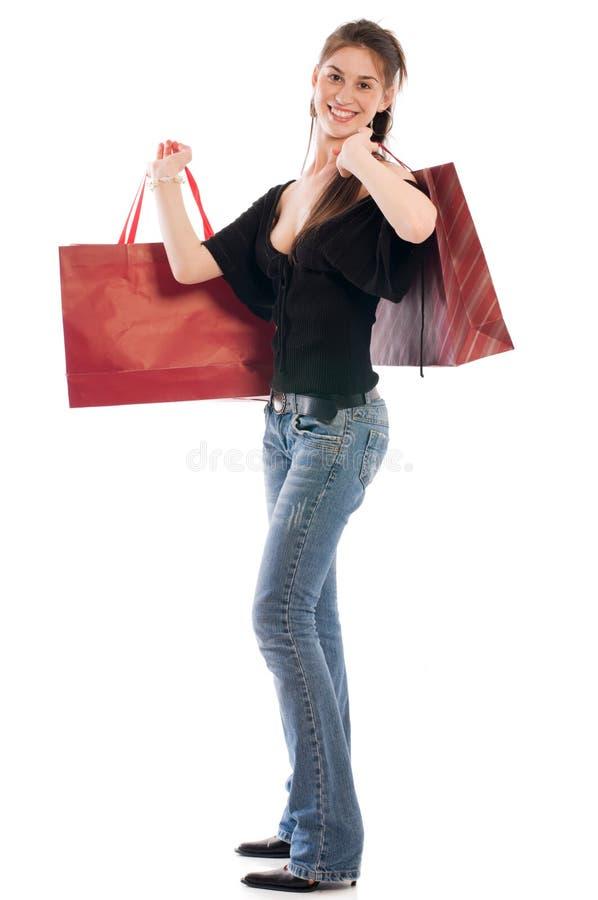 szczęśliwy kupujący obrazy stock