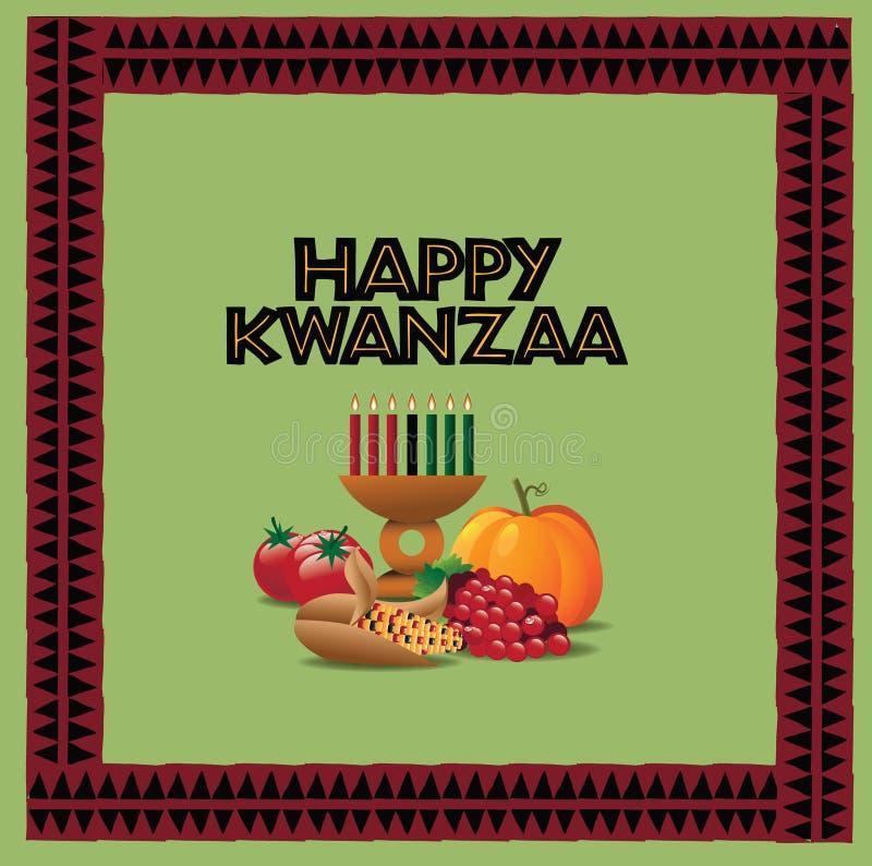 Szczęśliwy Kwanzaa kartka z pozdrowieniami projekt ilustracja wektor