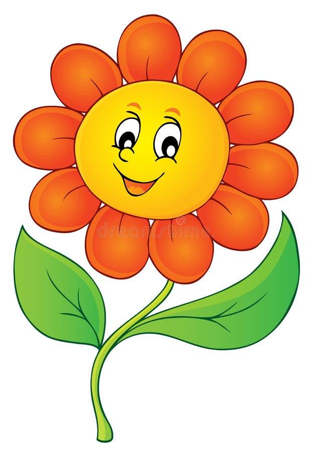 Szczęśliwy kwiatu tematu wizerunek 3 ilustracja wektor