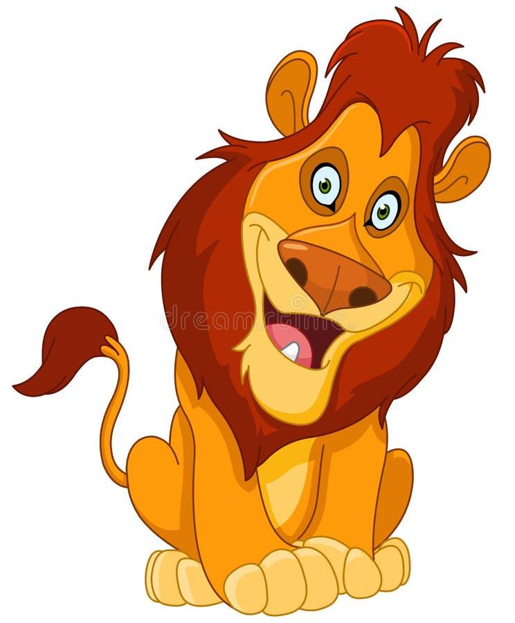 Szczęśliwy lew ilustracja wektor