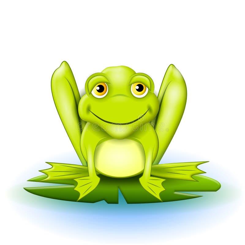 szczęśliwy lilypad żab ilustracja wektor