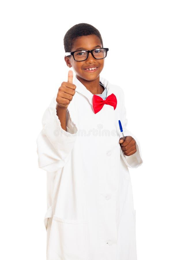 Szczęśliwy mądry naukowa dziecko fotografia stock