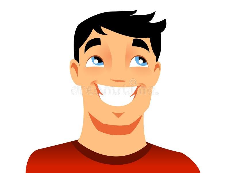 Szczęśliwy mężczyzna ilustracji