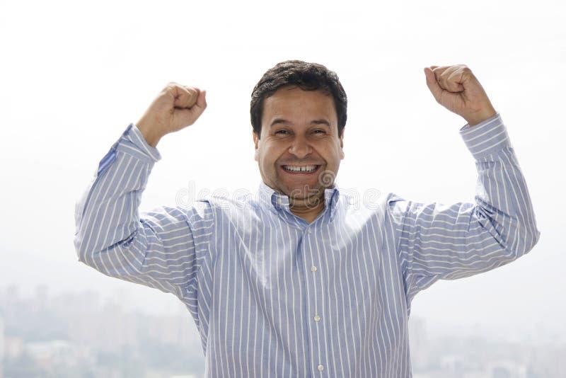 szczęśliwy mężczyzna bardzo zdjęcie royalty free