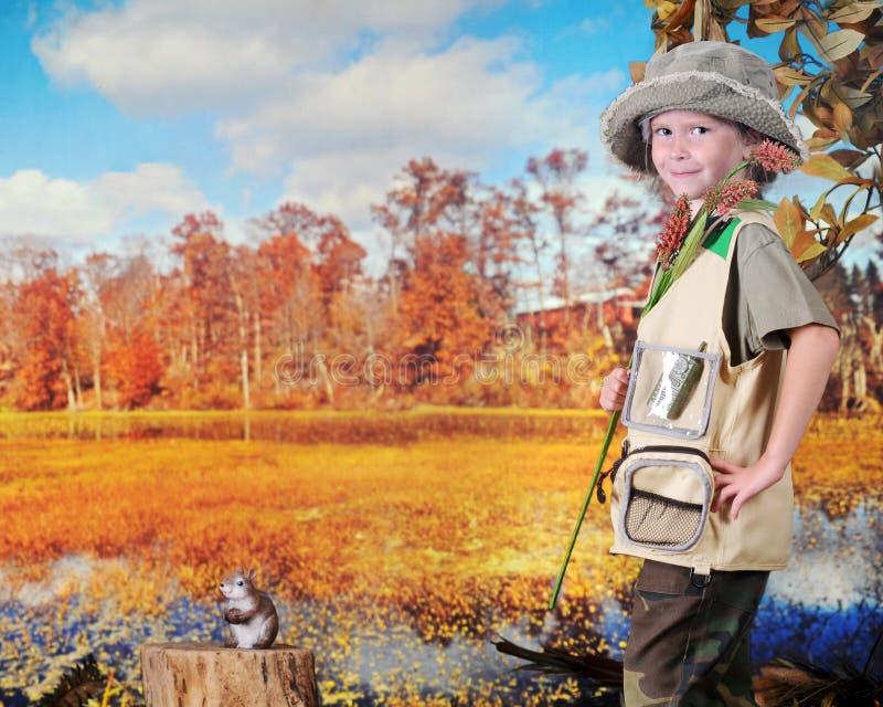 Szczęśliwy Młody badacz obrazy royalty free