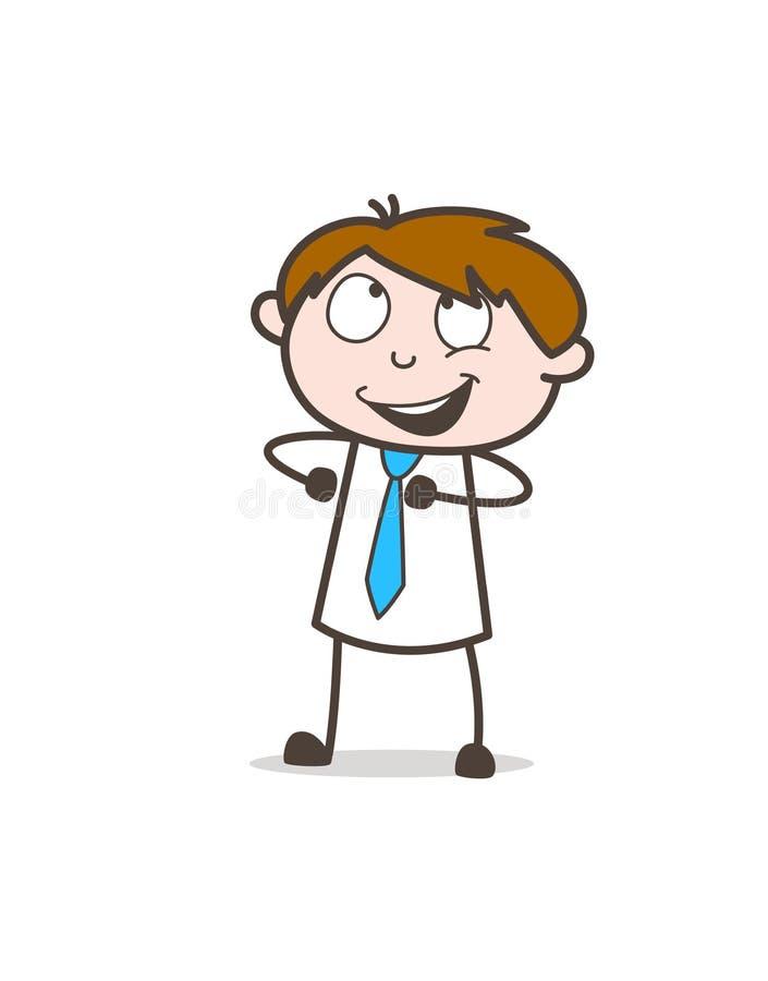 Szczęśliwy Młody biznesmen Czuje Dumnego Wektorowego pojęcie royalty ilustracja