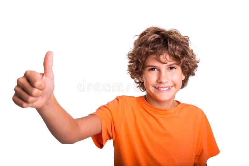 Szczęśliwy młody człowiek ja target500_0_ w kamerę zdjęcia stock
