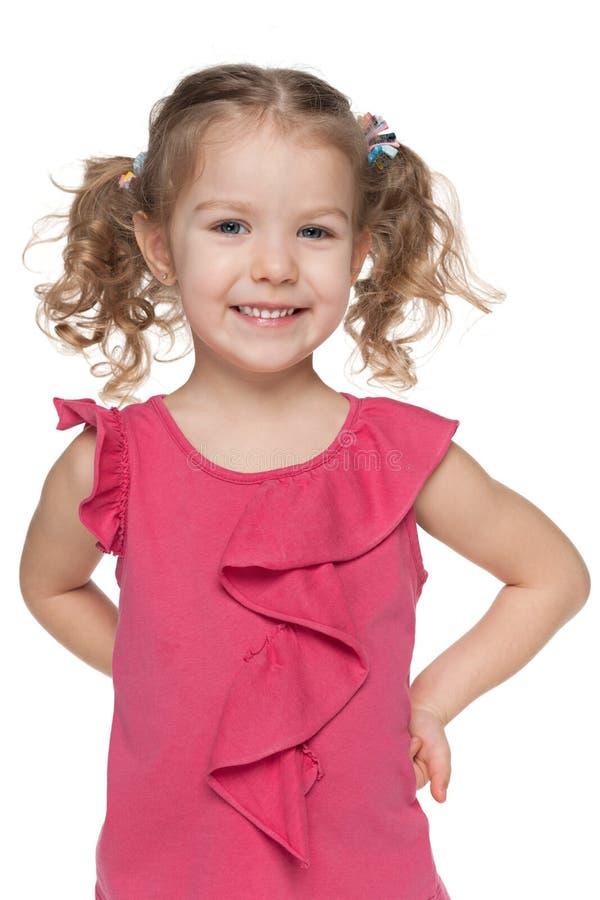 Download Szczęśliwy mały dziewczyny obraz stock. Obraz złożonej z dzieciństwo - 41951577