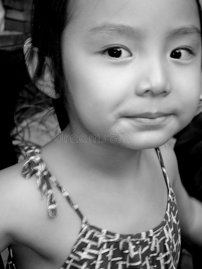 szczęśliwy mały dziewczyny zdjęcie stock