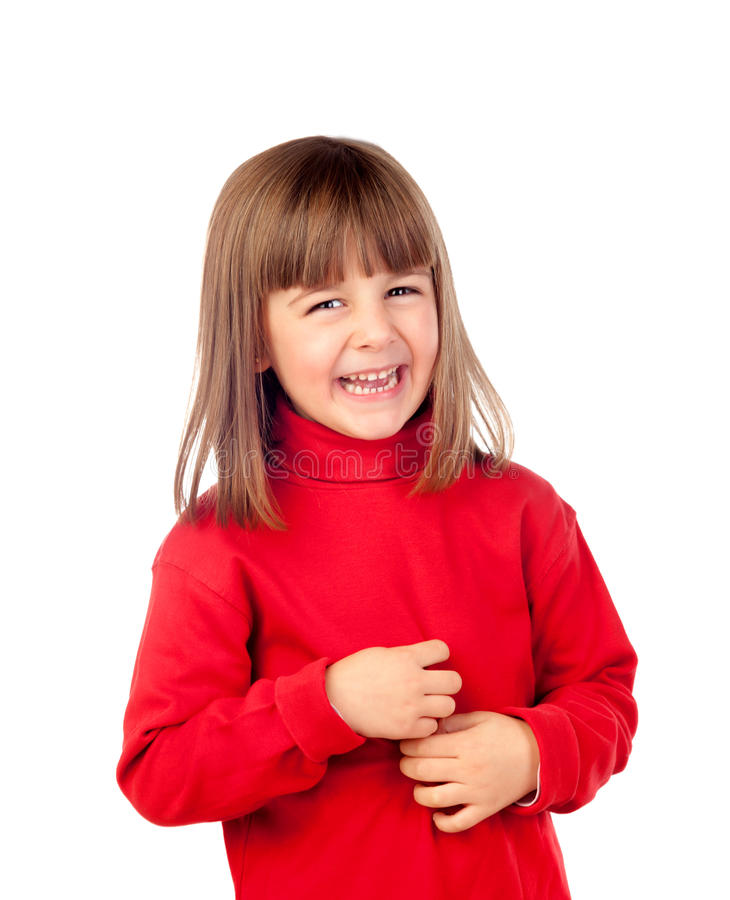 Szczęśliwy mały dziewczyny ono uśmiecha się zdjęcie stock