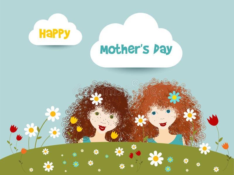 Szczęśliwy matka dnia pojęcie ilustracja wektor