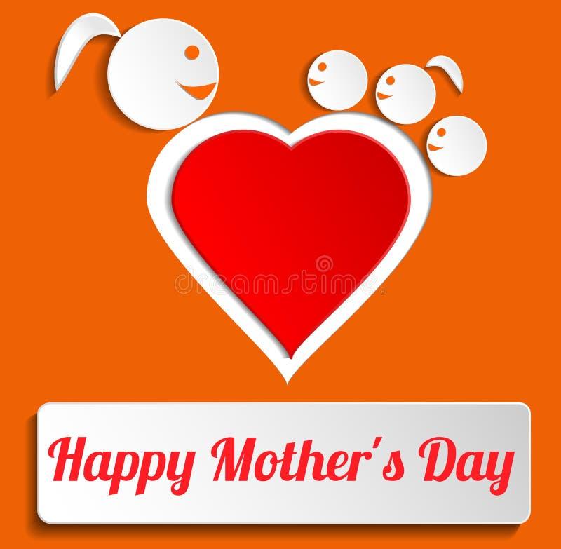 Szczęśliwy matka dzień ilustracji