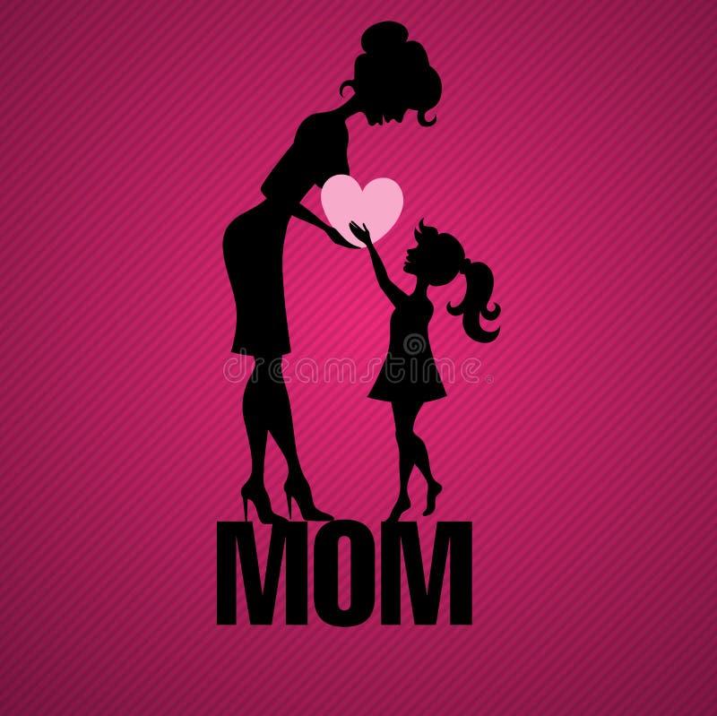 Szczęśliwy matka dzień. royalty ilustracja