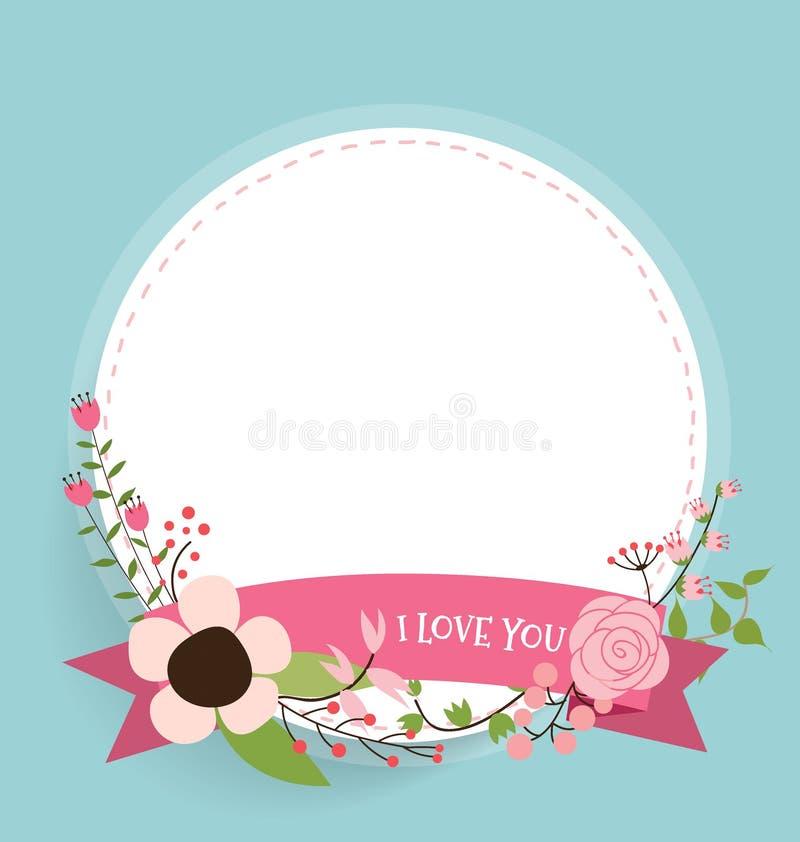 Szczęśliwy matka dzień, Kwieciści bukiety z faborkiem i serce, vecto ilustracji