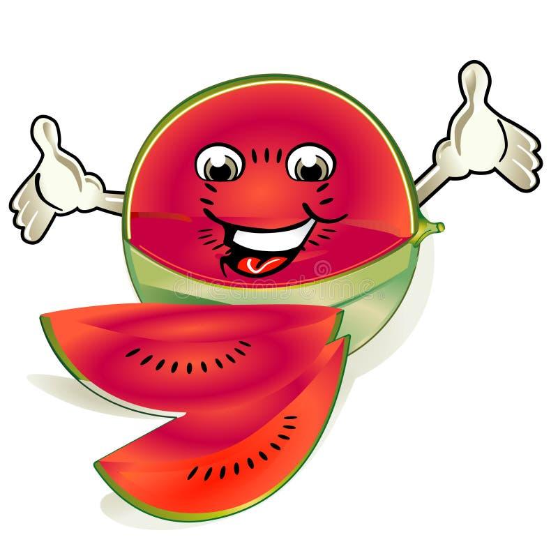 szczęśliwy melon ilustracja wektor