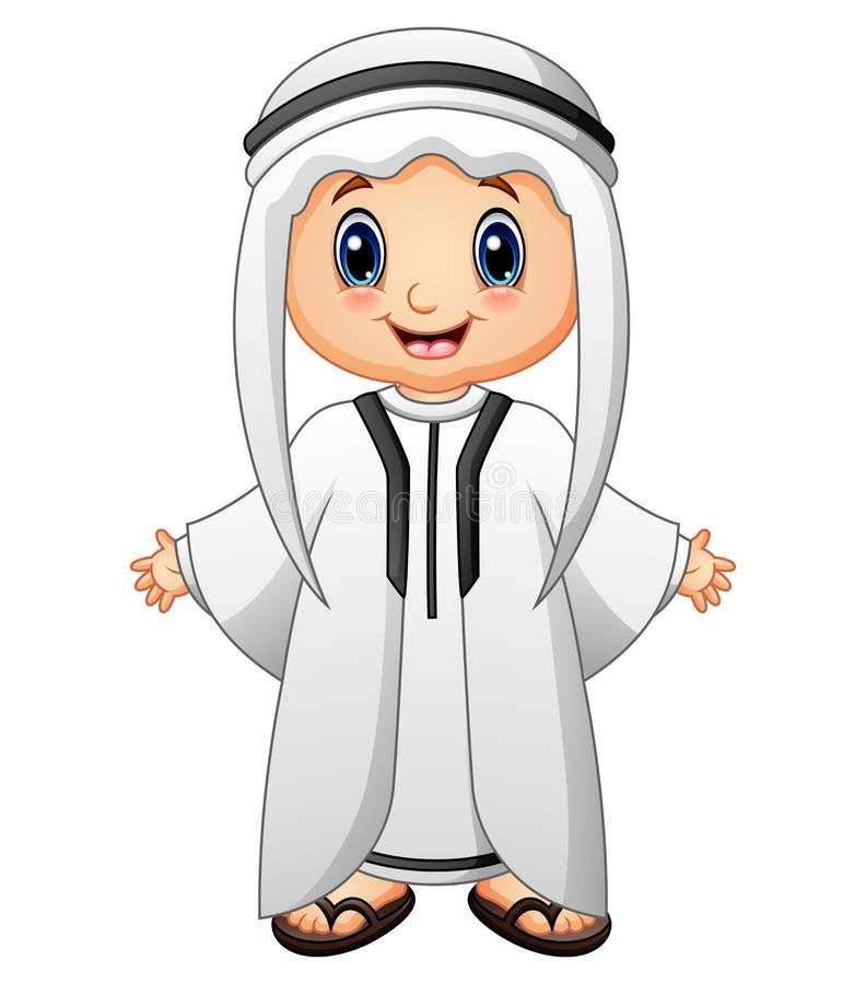 Szczęśliwy Muzułmański dzieciaka przedstawiać ilustracji