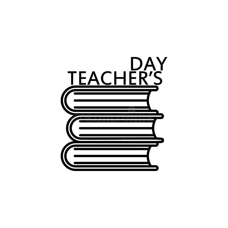 szczęśliwy nauczyciel, s dzień ' Edukacja symbolu znaka piktogram royalty ilustracja