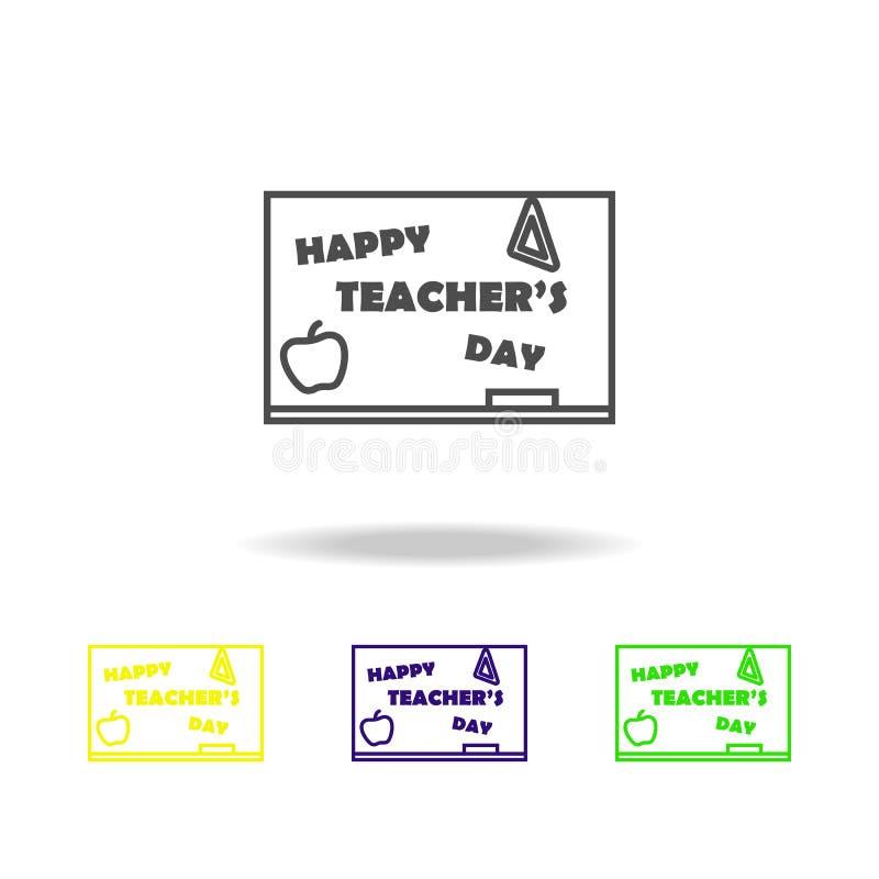 szczęśliwy nauczyciel, s dzień ' Edukacja symbolu znaka piktogram może używać dla sieci, logo, mobilny app, UI, UX royalty ilustracja