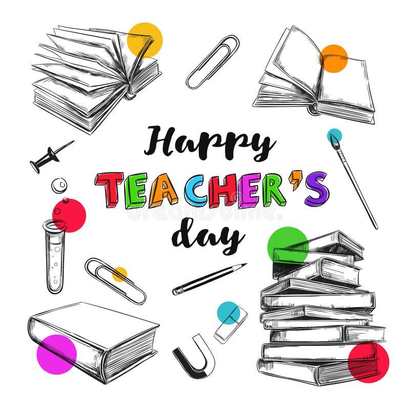 Szczęśliwy nauczyciela dnia sztandar 1 ilustracji