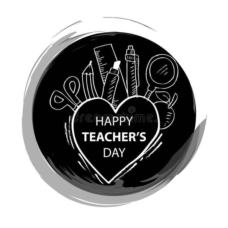 Szczęśliwy nauczyciela dzień royalty ilustracja