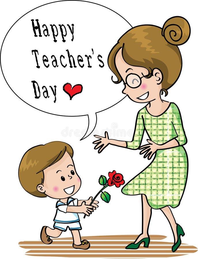 Szczęśliwy nauczyciela dzień ilustracja wektor