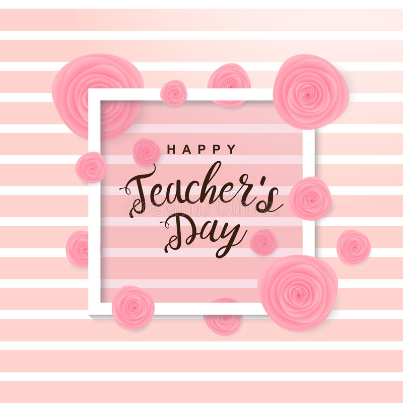Szczęśliwy nauczyciela ` s dnia plakat obrazy royalty free