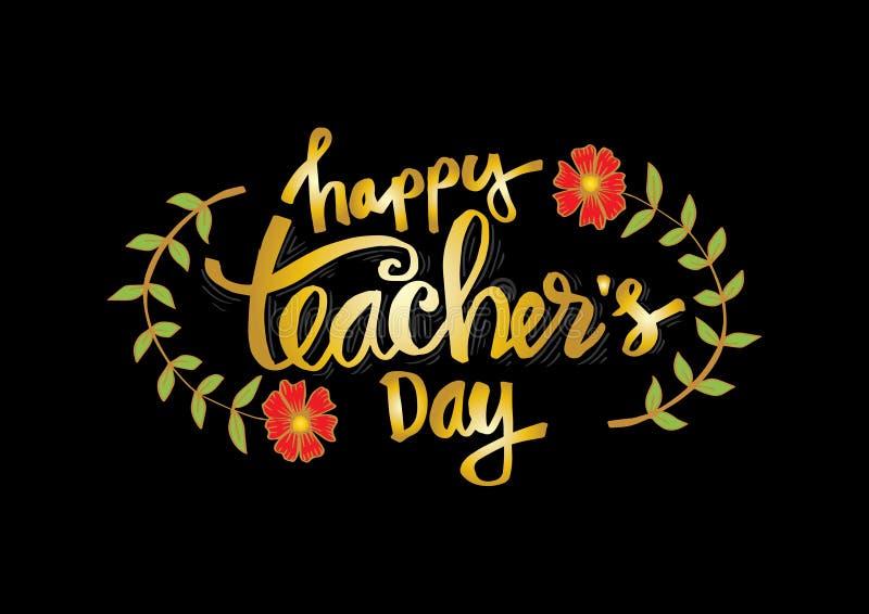 Szczęśliwy nauczyciela ` s dzień ilustracja wektor