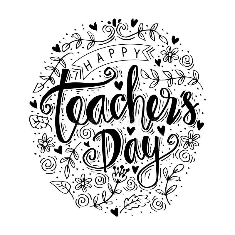 Szczęśliwy nauczyciela ` s dzień ilustracji