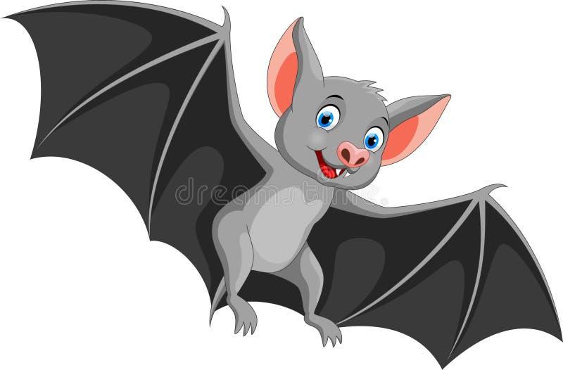 Szczęśliwy nietoperz kreskówki latanie royalty ilustracja