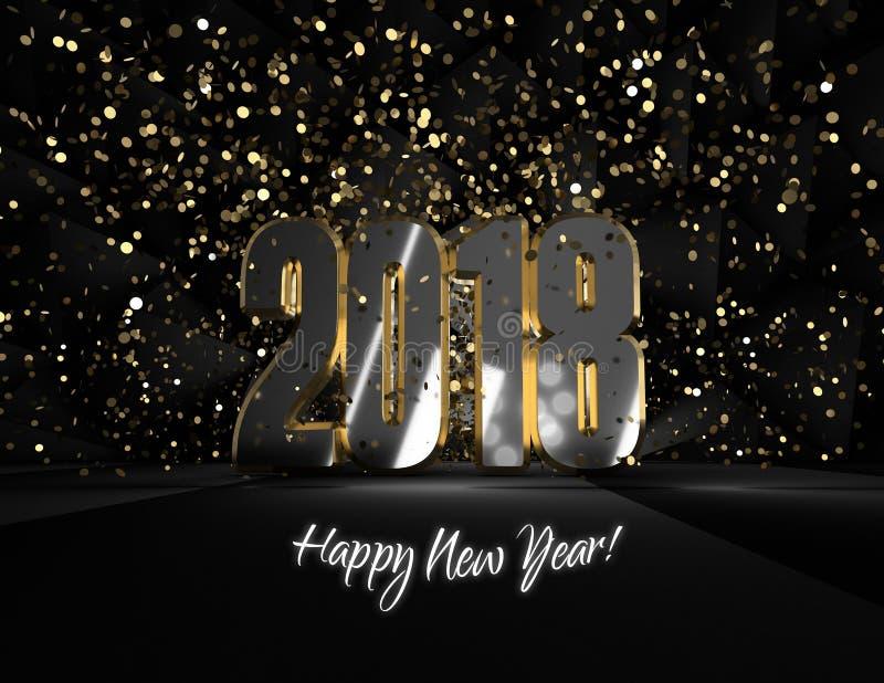 Szczęśliwy nowego roku 2018 Â ¡ powitanie! obraz stock