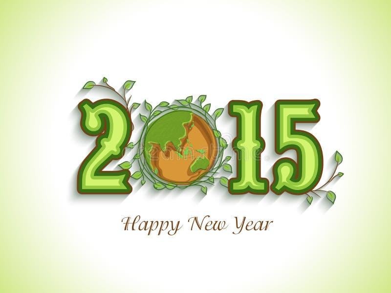 Szczęśliwy nowego roku świętowanie z pięknym tekstem ilustracji