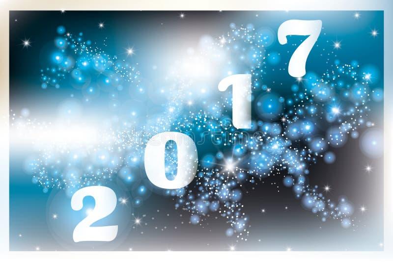 2017 - Szczęśliwy nowego roku fajerwerk ilustracji