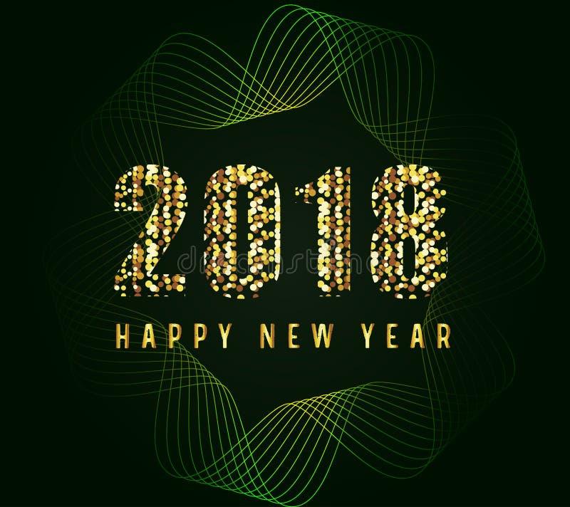 Szczęśliwy nowego roku 2018 ilulustration ilustracji
