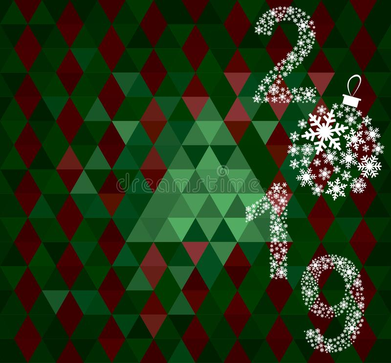Szczęśliwy nowego roku 2019 kartka z pozdrowieniami obrazy stock