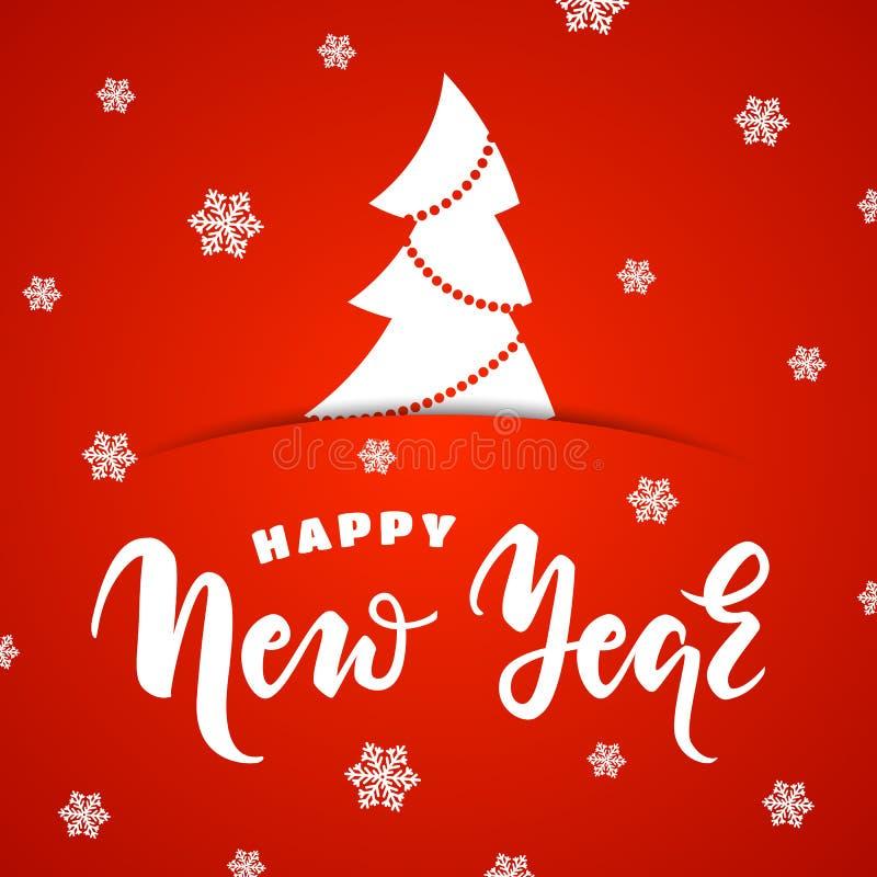Szczęśliwy nowego roku kartka z pozdrowieniami ilustracji