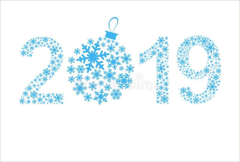 Szczęśliwy nowego roku 2019 kartka z pozdrowieniami piękne Święta tło zdjęcia stock