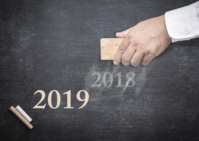 Szczęśliwy nowego roku 2019 pojęcie obraz royalty free