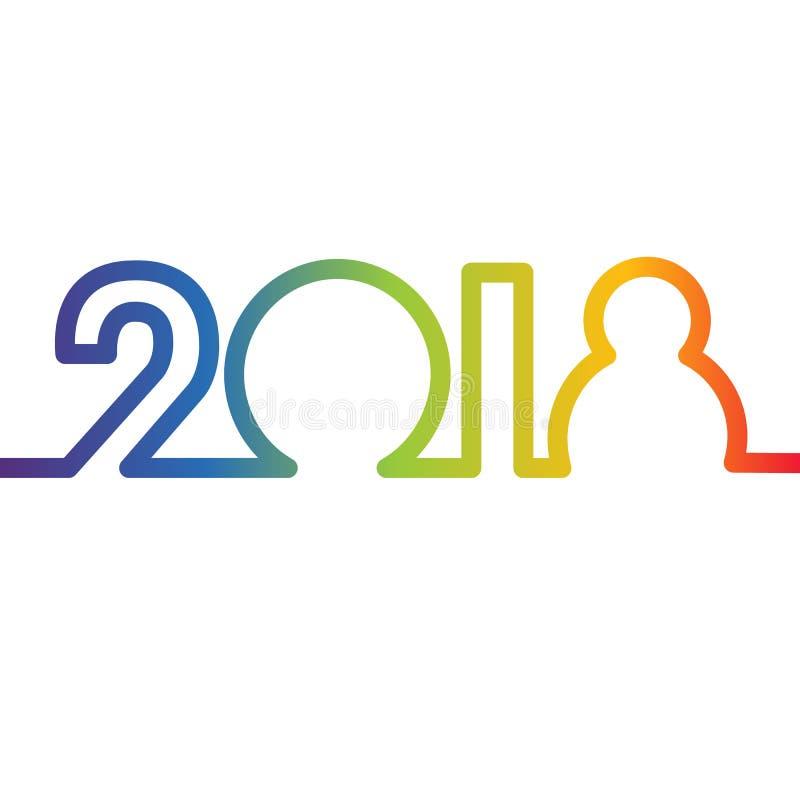 Szczęśliwy nowego roku 2018 pojęcie zdjęcia stock