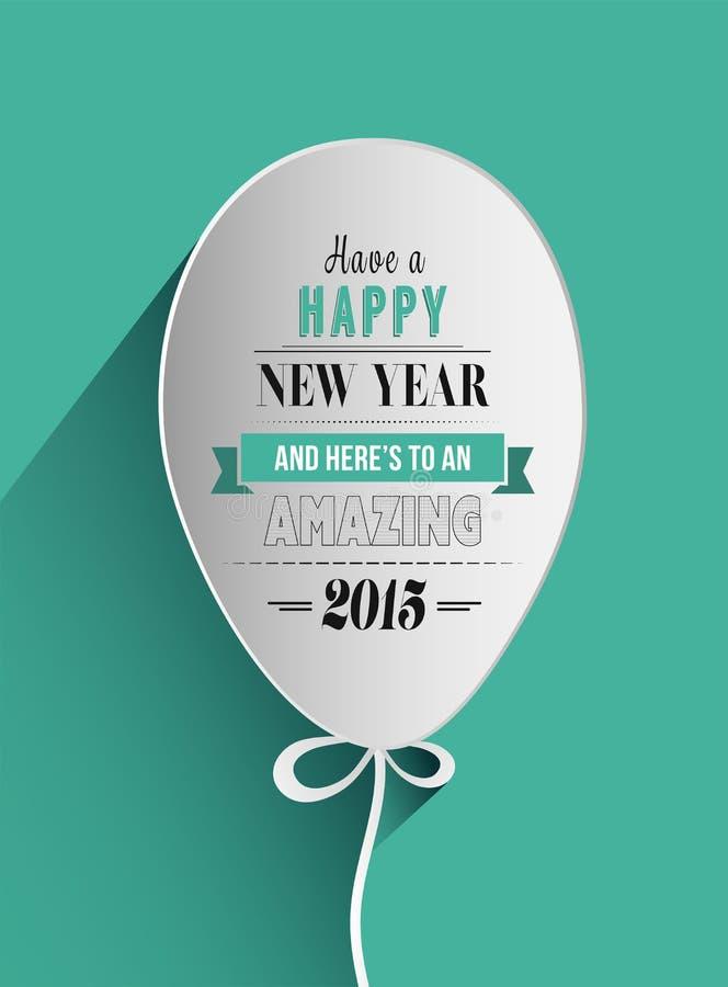 Szczęśliwy nowego roku projekt w balonie ilustracja wektor