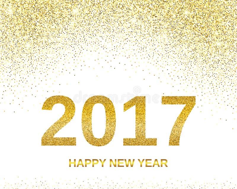 Szczęśliwy nowego roku 2017 sztandar royalty ilustracja