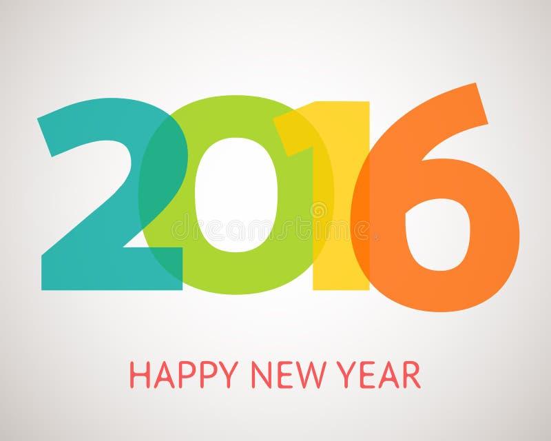 Szczęśliwy nowego roku 2016 sztandar również zwrócić corel ilustracji wektora ilustracji