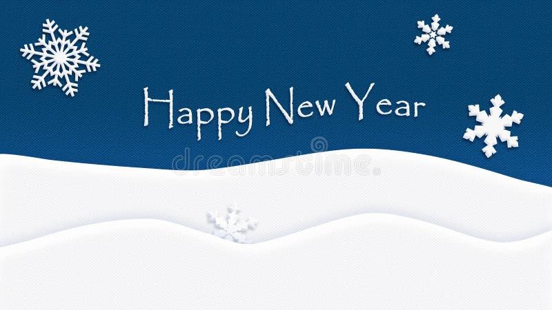 Szczęśliwy nowego roku tła tekstury płatek śniegu royalty ilustracja
