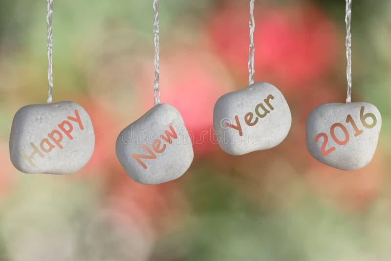 Szczęśliwy nowego roku 2016 tekst fotografia royalty free