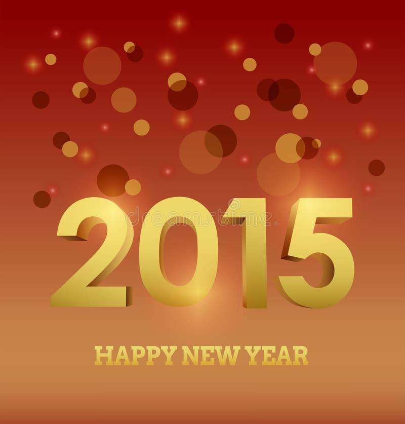 Szczęśliwy nowego roku wektor w kolorze żółtym i pomarańcze ilustracji