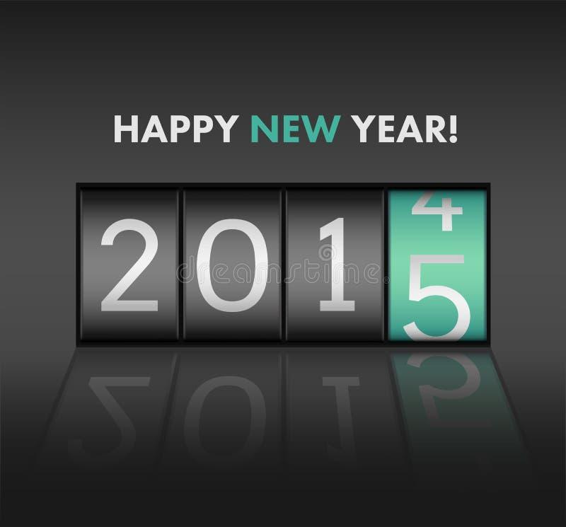 Szczęśliwy nowego roku wektor z 2015 royalty ilustracja