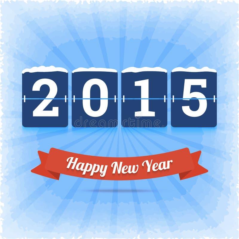 Szczęśliwy 2015 nowego roku wektorowa ilustracja royalty ilustracja